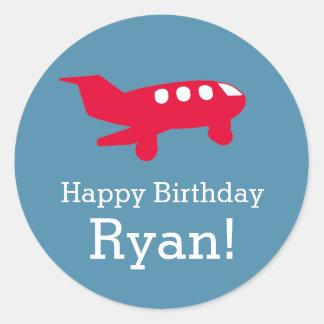 Flugzeug-Flugzeug-Geburtstags-Party-Aufkleber