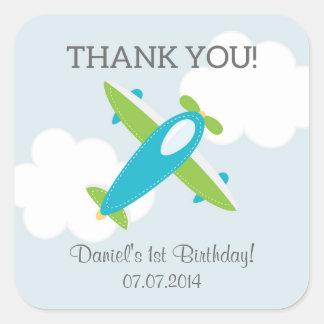 Flugzeug-Geburtstag danken Ihnen Aufkleber
