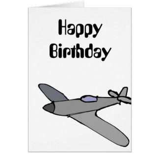 Flugzeug-Geburtstags-Karte Karte