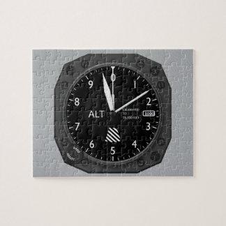 Flugzeug-Höhenmesser Puzzle