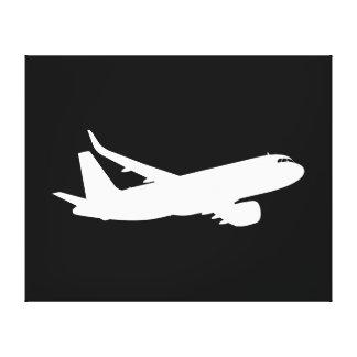 Flugzeug-Jet-Zwischenlagen-weißer Gespannter Galeriedruck