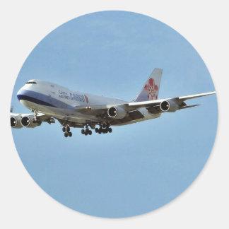 Flugzeug-Jets Runder Aufkleber