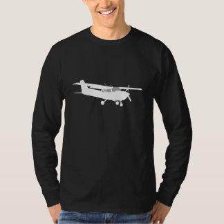 Flugzeug-klassisches Cessna-Silhouette-Fliegen auf T-Shirt
