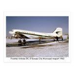 Flugzeug-Postkarte
