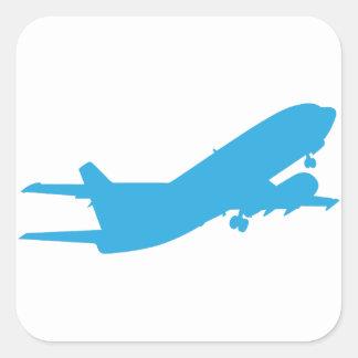 Flugzeug Quadratischer Aufkleber