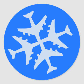 Flugzeug-Schneeflocke Aufkleber