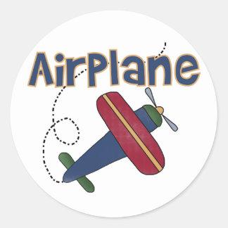 Flugzeug-T-Shirts und Geschenke Runder Aufkleber