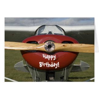 Flugzeug-Versuchsalles- Gute zum Geburtstagkarte Grußkarte