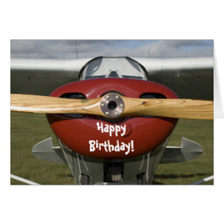Flugzeug-Versuchsalles- Gute zum Geburtstagkarte Karte