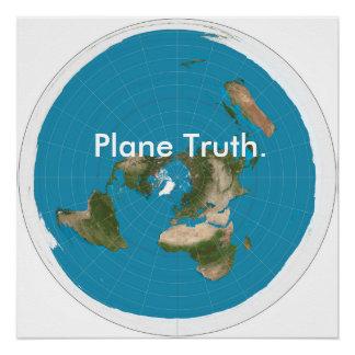 """""""Flugzeug-Wahrheit """" Perfektes Poster"""