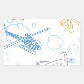 Flugzeug-Wand Rechrteckaufkleber