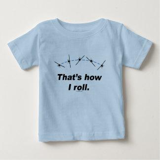 Flugzeug, wie ich rolle baby t-shirt
