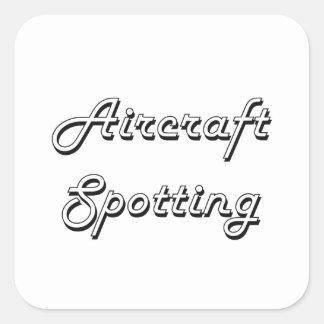 Flugzeuge, die klassischen Retro Entwurf Quadratischer Aufkleber