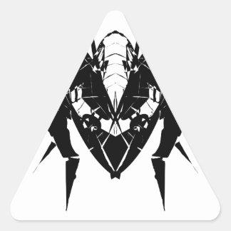 Flugzeuge Dreiecks-Aufkleber