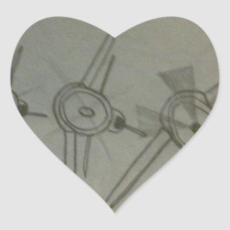 Flugzeuge im Flug Herz-Aufkleber
