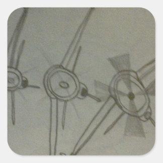 Flugzeuge im Flug Quadratischer Aufkleber