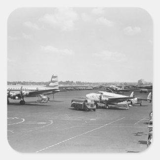 Flugzeuge Quadratischer Aufkleber