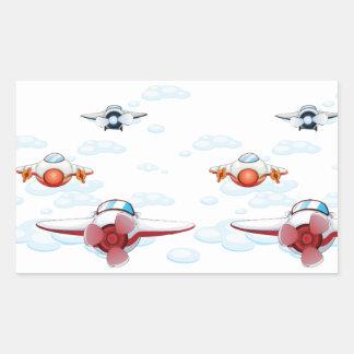 Flugzeuge Rechteckiger Aufkleber
