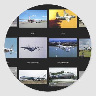 Flugzeuge Runder Aufkleber