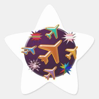 Flugzeuge Stern-Aufkleber