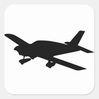 FlugzeugSticker Quadratischer Aufkleber