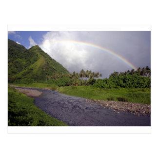 Fluss in Teahupoo, Tahiti Postkarten