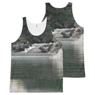 Fluss Komplett Bedrucktes Tanktop