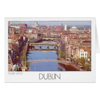 Fluss Liffey (St.K.) Irlands Dublin Grußkarte