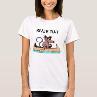 FLUSS-RATTE IM KANU T-Shirt