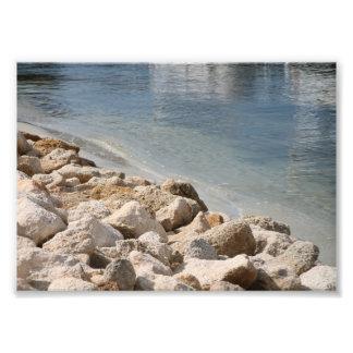 Fluss und Felsen Photographischer Druck