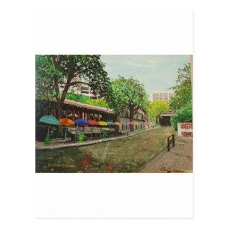 Fluss-Weg San Antonio, TX Malerei Postkarte