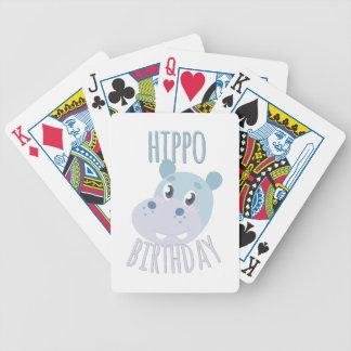 Flusspferd-Geburtstag Bicycle Spielkarten