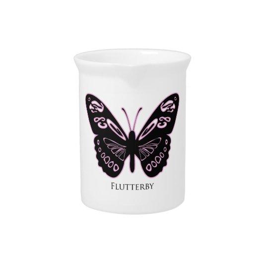 Flutterby Rosa-Glühen-Krug Getränke Pitcher