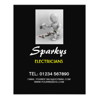 Flyer für Elektrikergeschäft