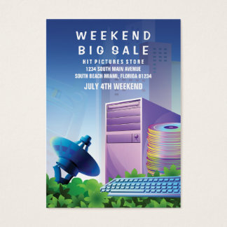 Flyer Hype Technology Sale Marketing Vertical Visitenkarte
