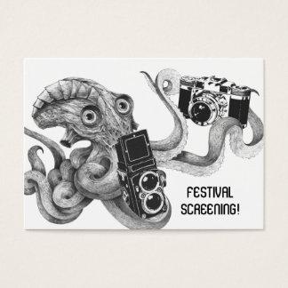 Flyer-Übertreibungs-Film-Kraken-Kamera-Film, der Visitenkarte