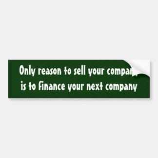 Folgern Sie nur, um Ihre Firma zu verkaufen… Autoaufkleber