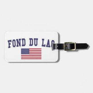 Fond du Lac US Flag Koffer Anhänger