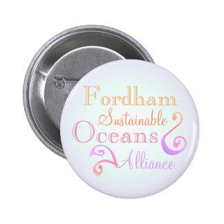 Fordham nachhaltiger Ozean-Bündnis-Regenbogen Runder Button 5,7 Cm