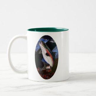 Forelle-Bettwäsche-Kaffee-Tasse Zweifarbige Tasse