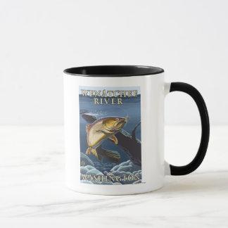 Forelle, die Querschnitt - Wenatchee Fluss, W Tasse