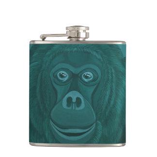 Forest Green-Orang-Utan Flasche Flachmann