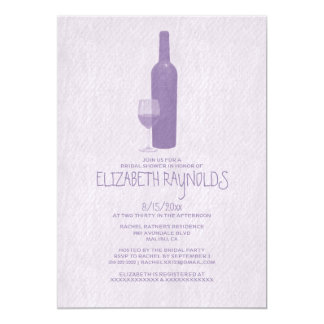 Formale Wein-Flaschen-Brautparty-Einladungen 12,7 X 17,8 Cm Einladungskarte