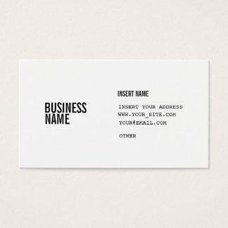 Format mit Spalten kondensierte Schriftart Visitenkarte