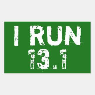 Forrest Grün lasse ich Aufkleber 13,1 laufen