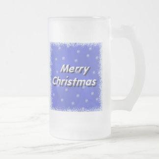 Forsty frohe Weihnachten Frost Mattglas Bierglas