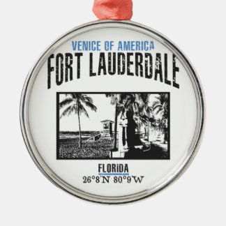 Fort Lauderdale Silbernes Ornament