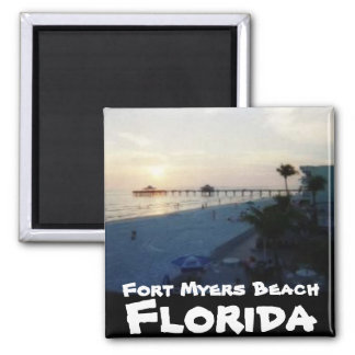 Fort- Myersstrand, Florida Quadratischer Magnet