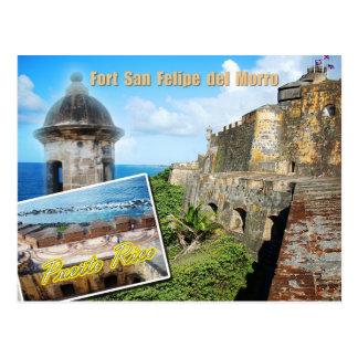 Fort San Felipe Del Morro, Puerto Rico Postkarte