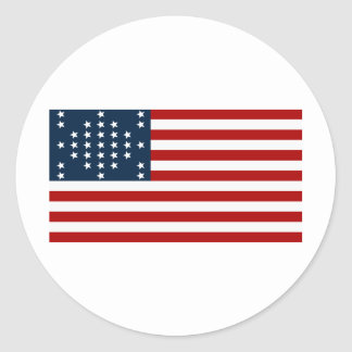 Fort Sumter des Stern-33 amerikanische zivile Krie Runder Sticker